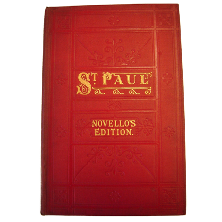 St Paul by F Mendelssohn Bartholdy - An oratorio - Novello's Edition
